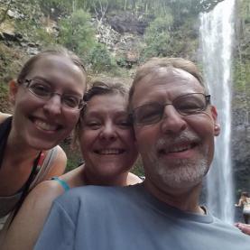 Ami, Mom, Dad at Secret Falls